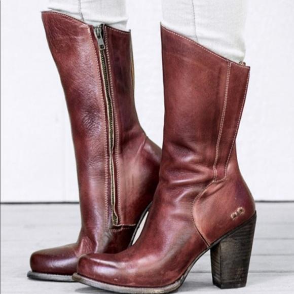 Bed Stu Embark Red Rustic Heeled Boot